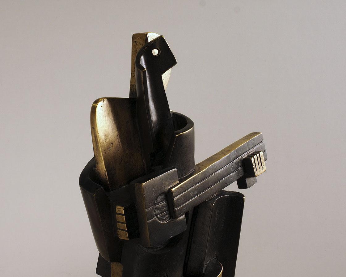 Arlequín cubista en bronce 4