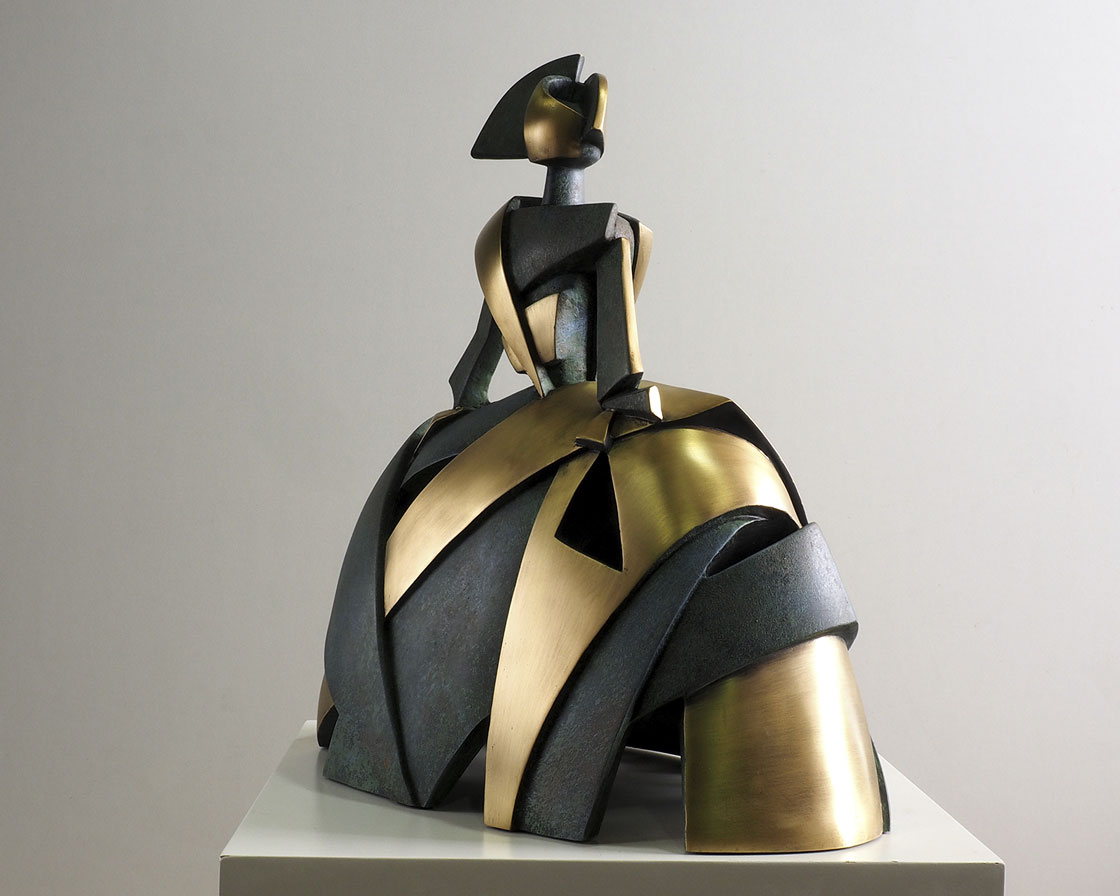 Menina Aire y Metal en bronce 3
