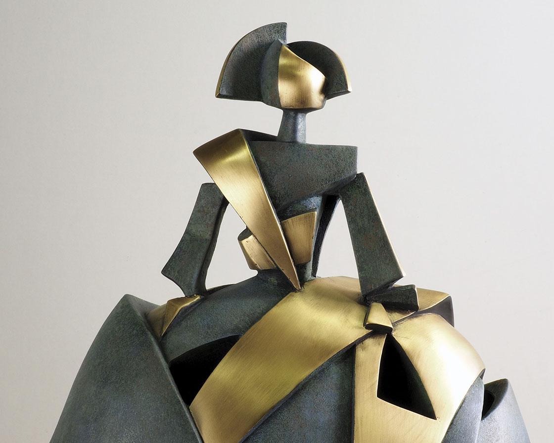 Menina Aire y Metal en bronce 4