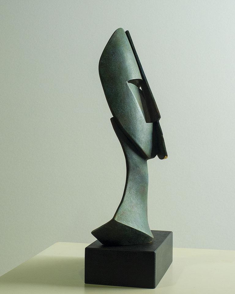 Rostro cubista en bronce 3