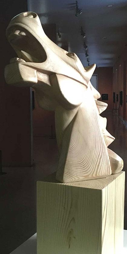 Caballo Cubista Guernica en madera