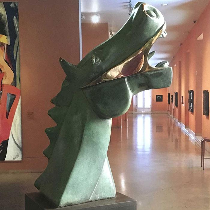 Caballo cubista Guernica en bronce de fundición