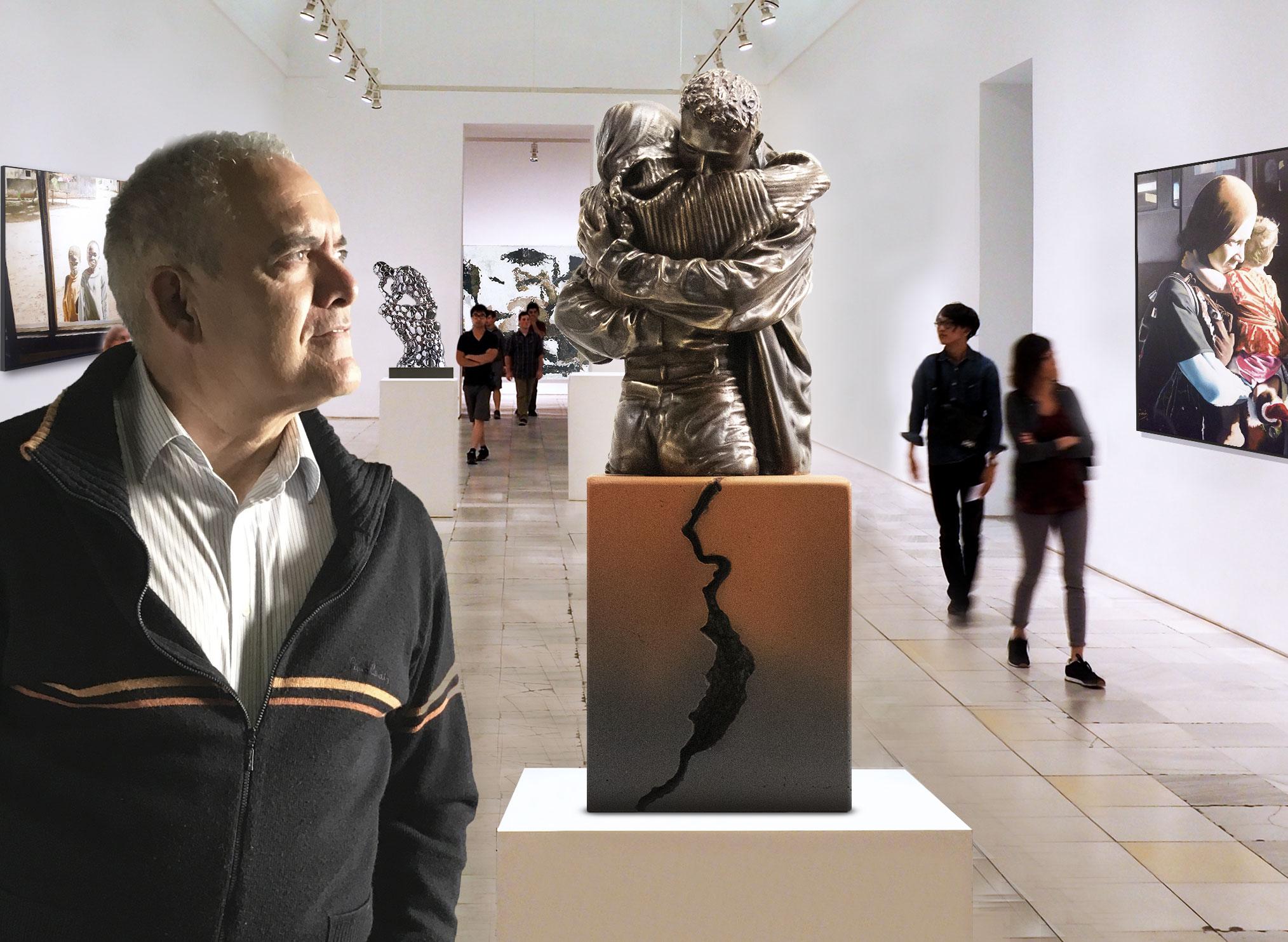 """Mi nueva escultura """"Nunca me dejes de abrazar"""""""