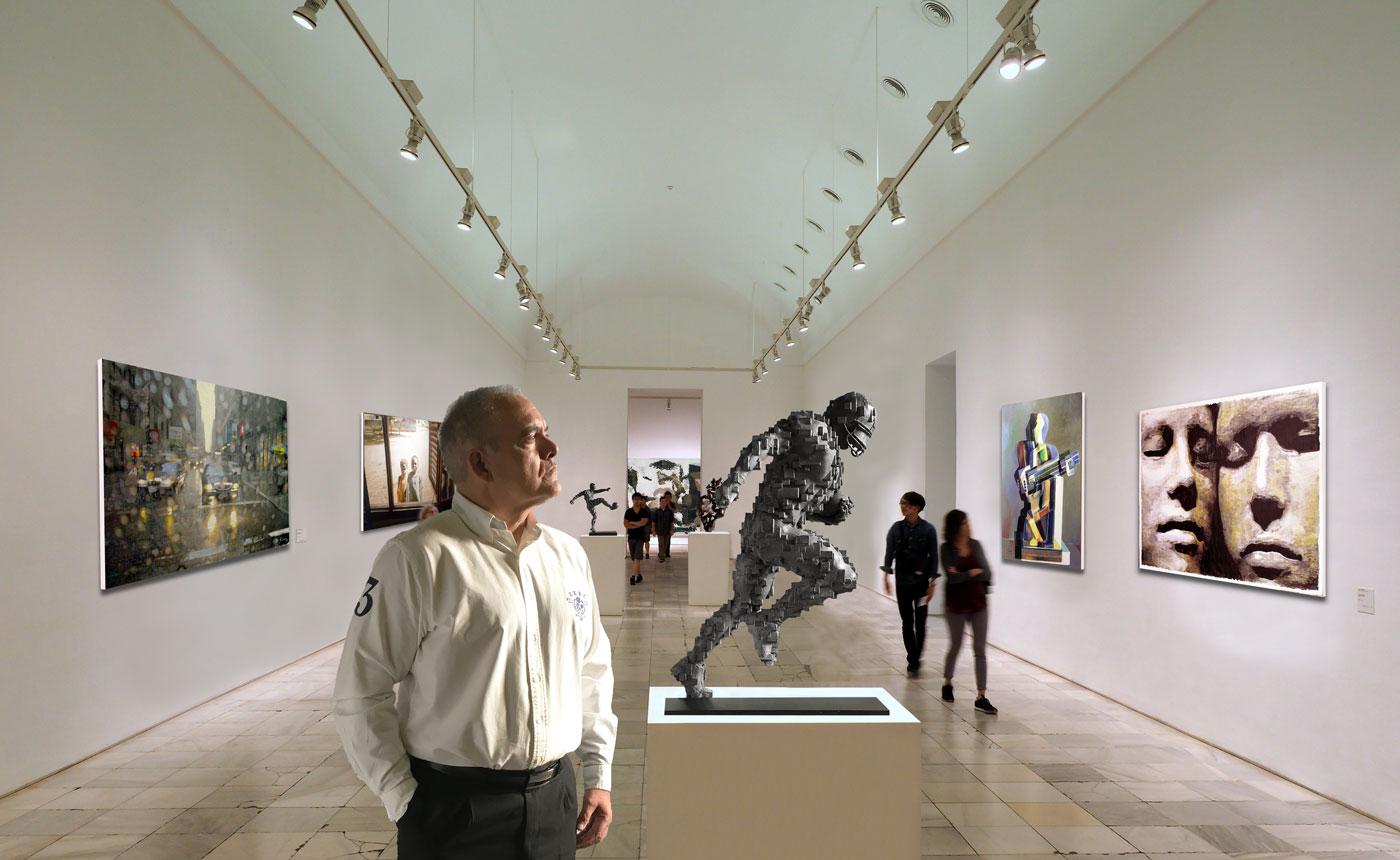 Abstracción NFL Inspiración Antony Gormley 80cm
