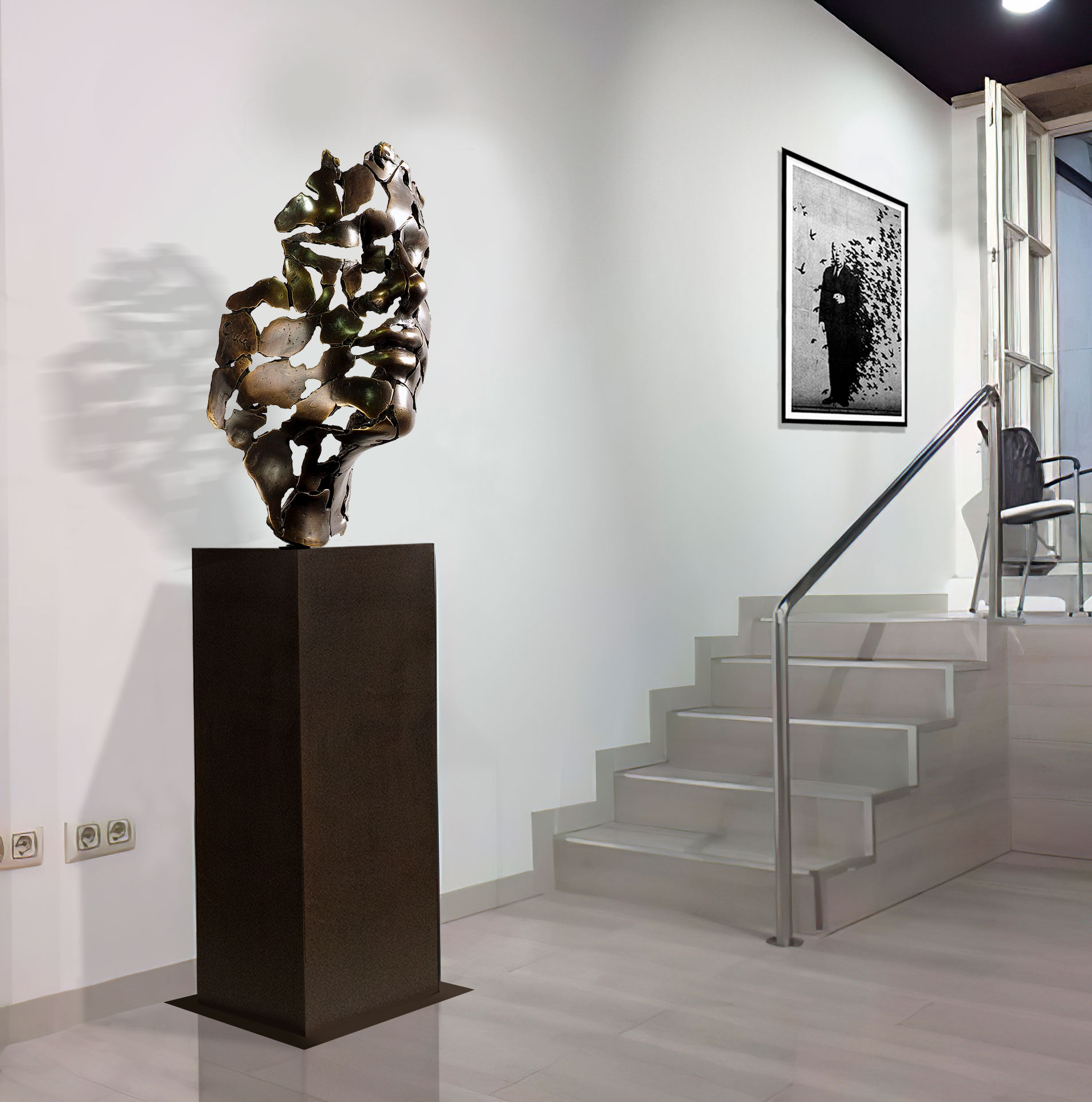 My sculpture essence of youth exhibited in galleries