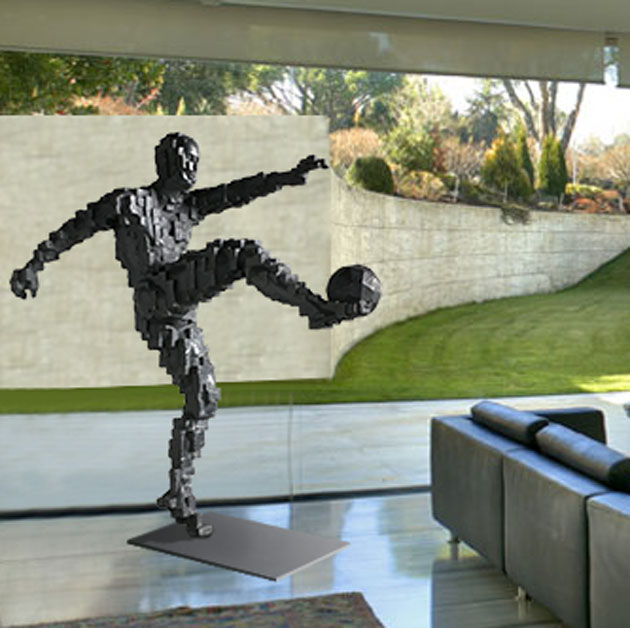 Zidane's Winning Goal inspired by Antony Gormley 180cm
