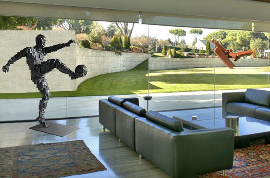 Gol Zidane ganador inspiración Antony Gormley 180cm