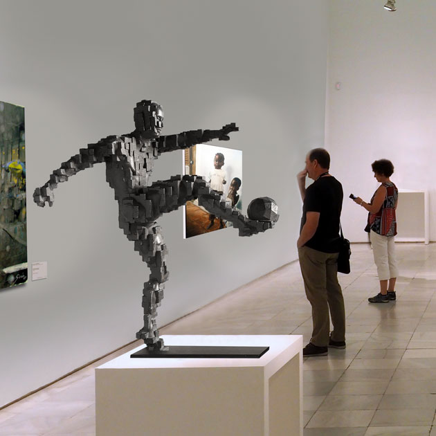 Zidane's Winning Goal inspired by Antony Gormley 60cm