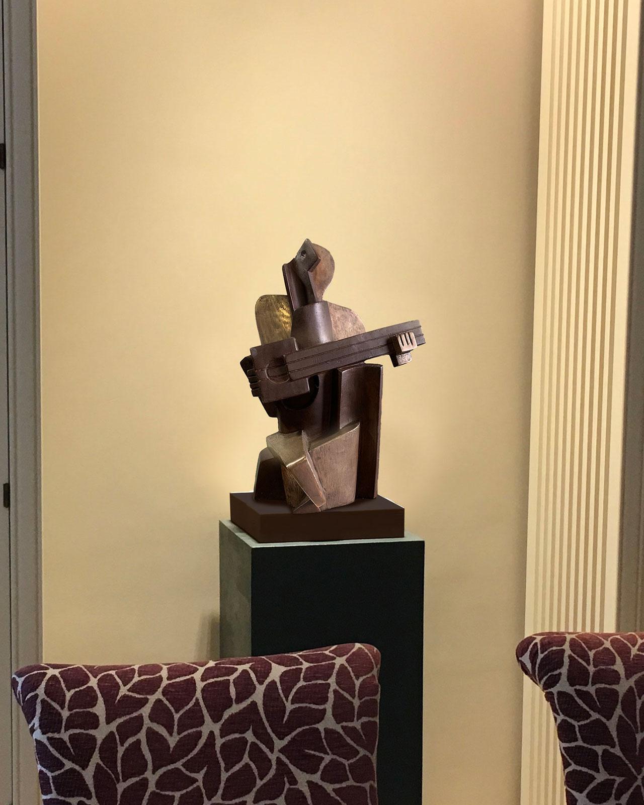 Guitarrista-cubista-bronce-fundicion-coleccionista