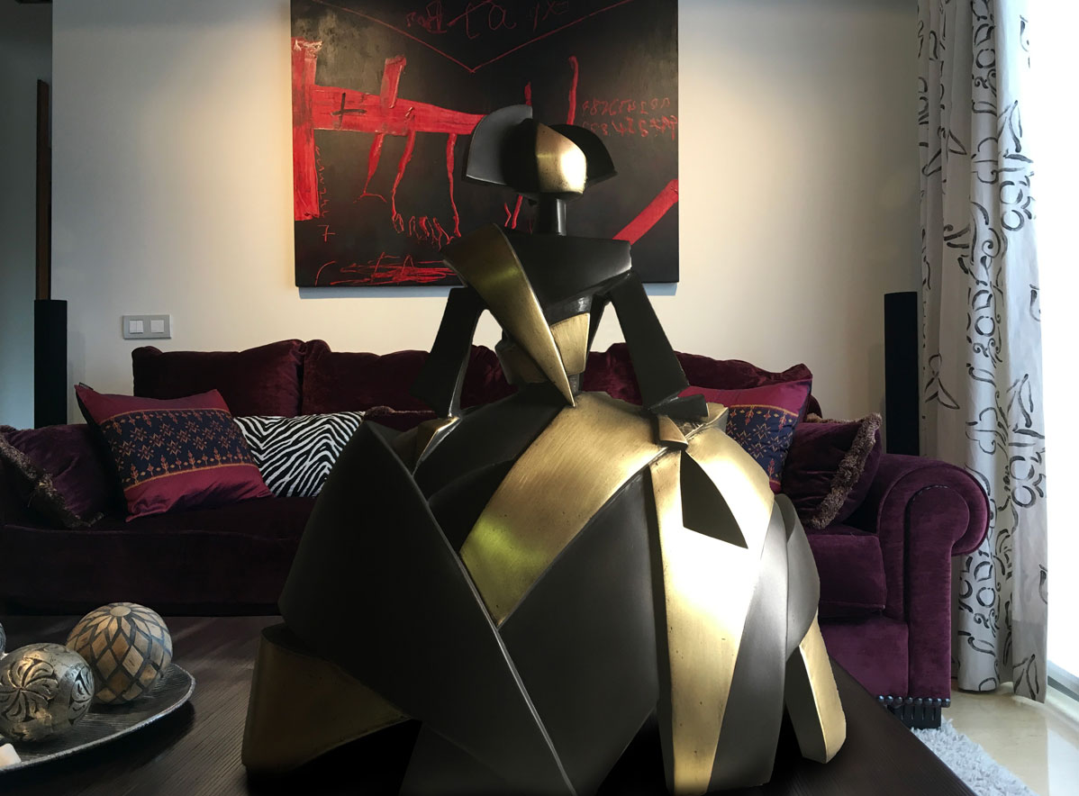 Menina Aire y Metal en bronce de fundición
