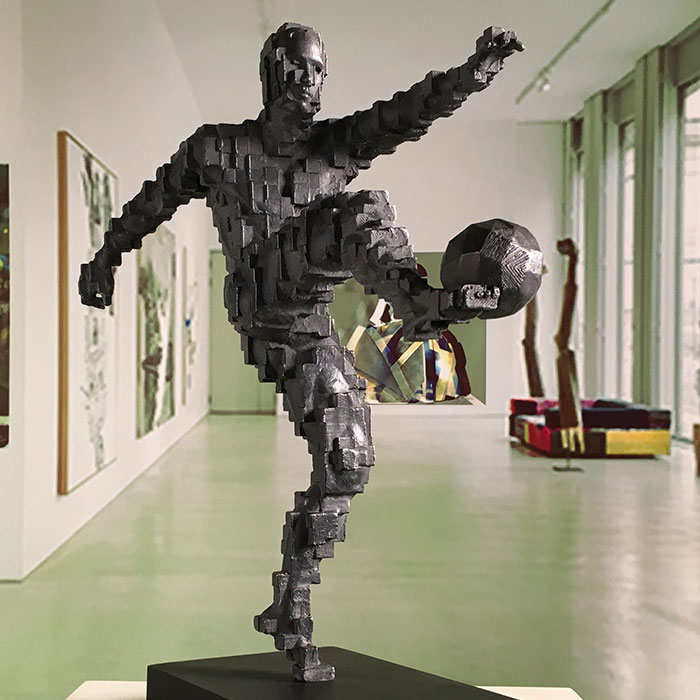 Zidane's Winning Goal inspired by Antony Gormley