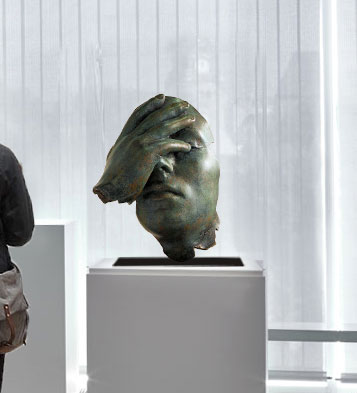 Reflexion in casting bronze
