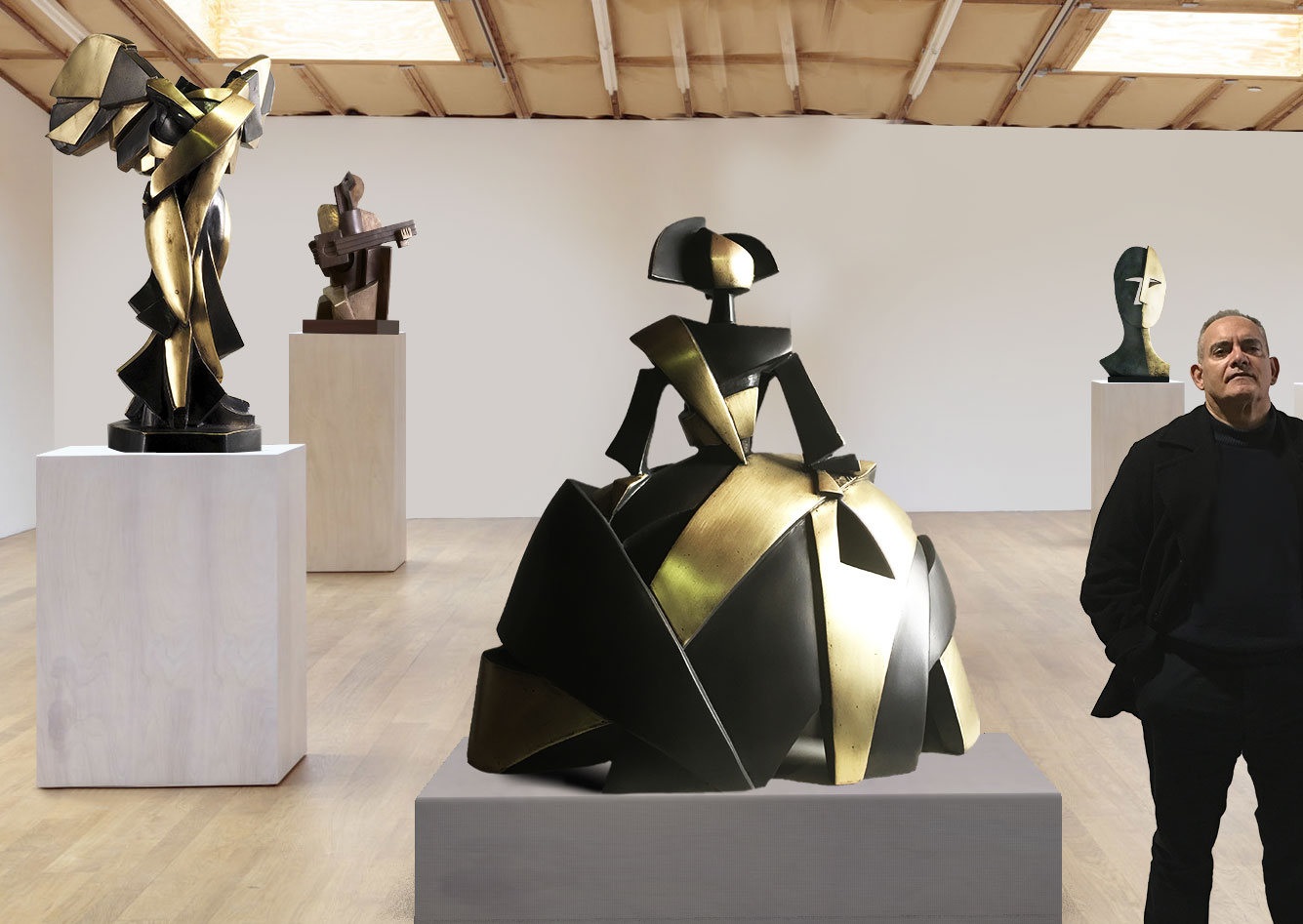 Exhibition of Cubist Sculptures by Miguel Guía in Germany